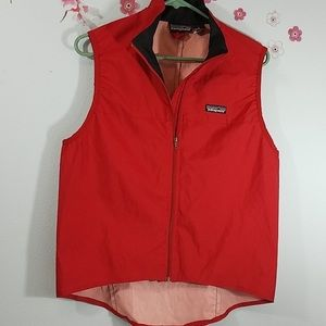 Patagonia Red Windbreaker Vest